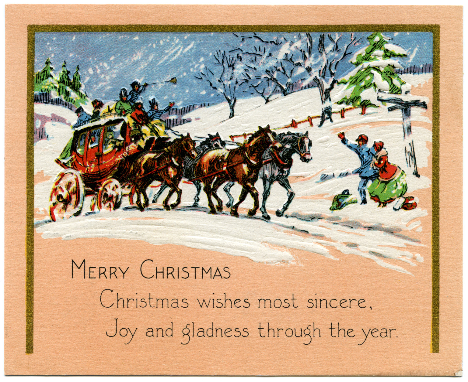 Digital Vintage Horse and Buggy Christmas Card   Old Design Shop Blog