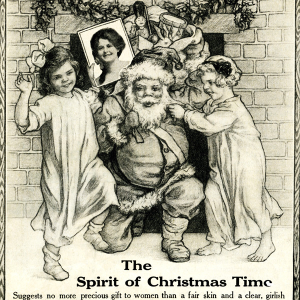 December 1914 ad, Hinds Honey and Almond Cream ad, public domain magazine ad, vintage advertisement, vintage Christmas image, vintage magazine advertisement