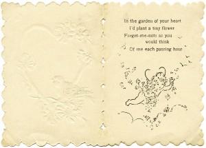 free vintage valentine, Victorian valentine printable, old fashioned valentine card, valentine bird graphics