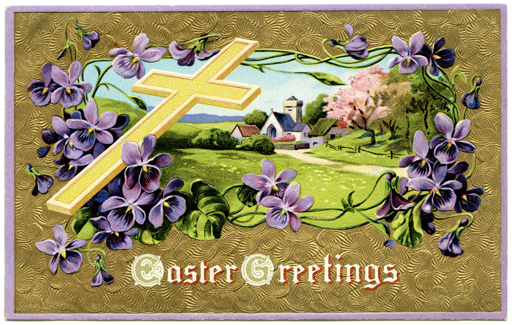 FREE Digital Vintage Easter Postcards | Old Design Shop Blog