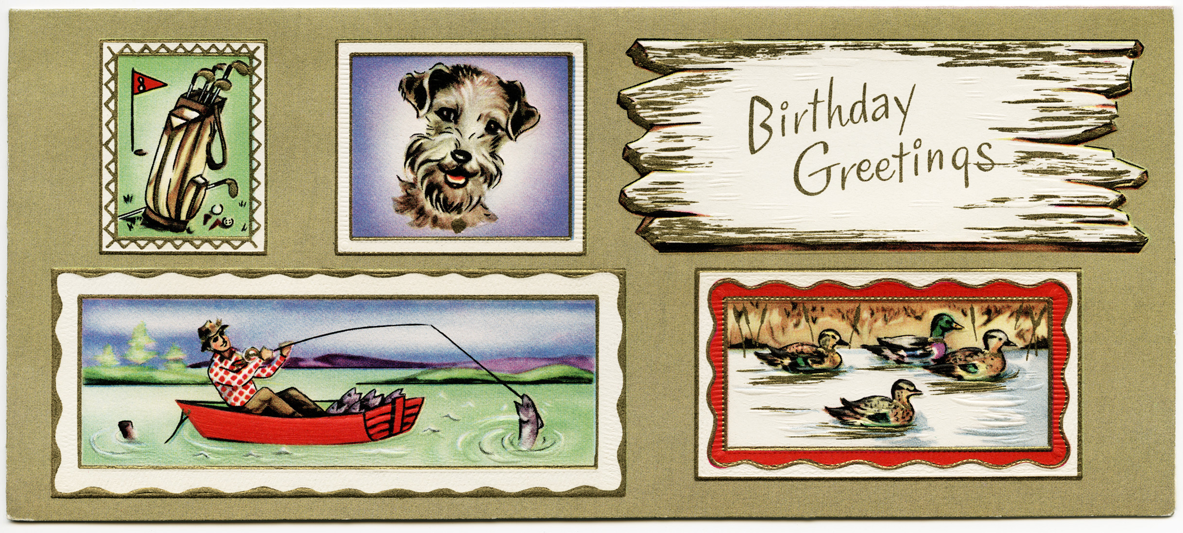 Masculine Vintage Birthday Card – Vintage Birthday Cards for Men