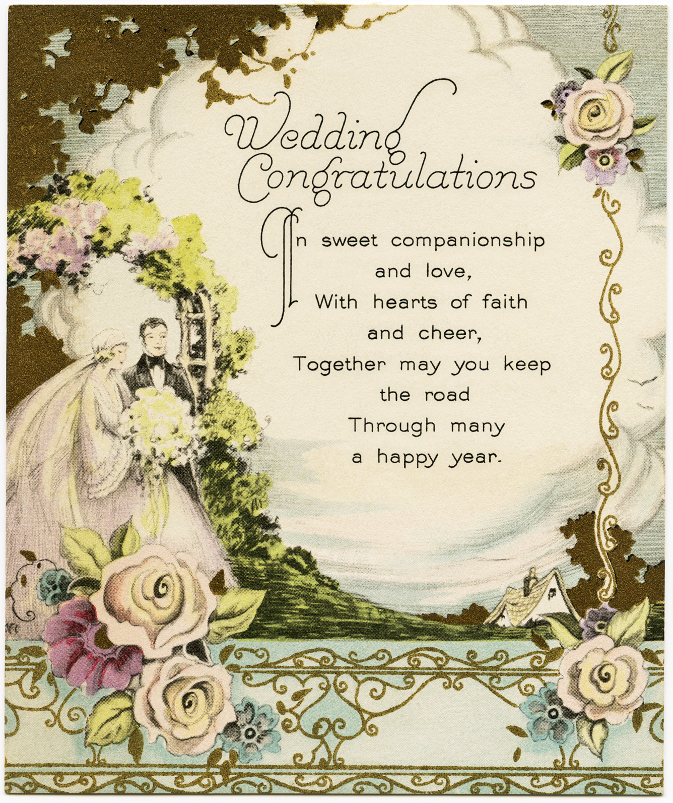 Vintage Wedding Congratulations