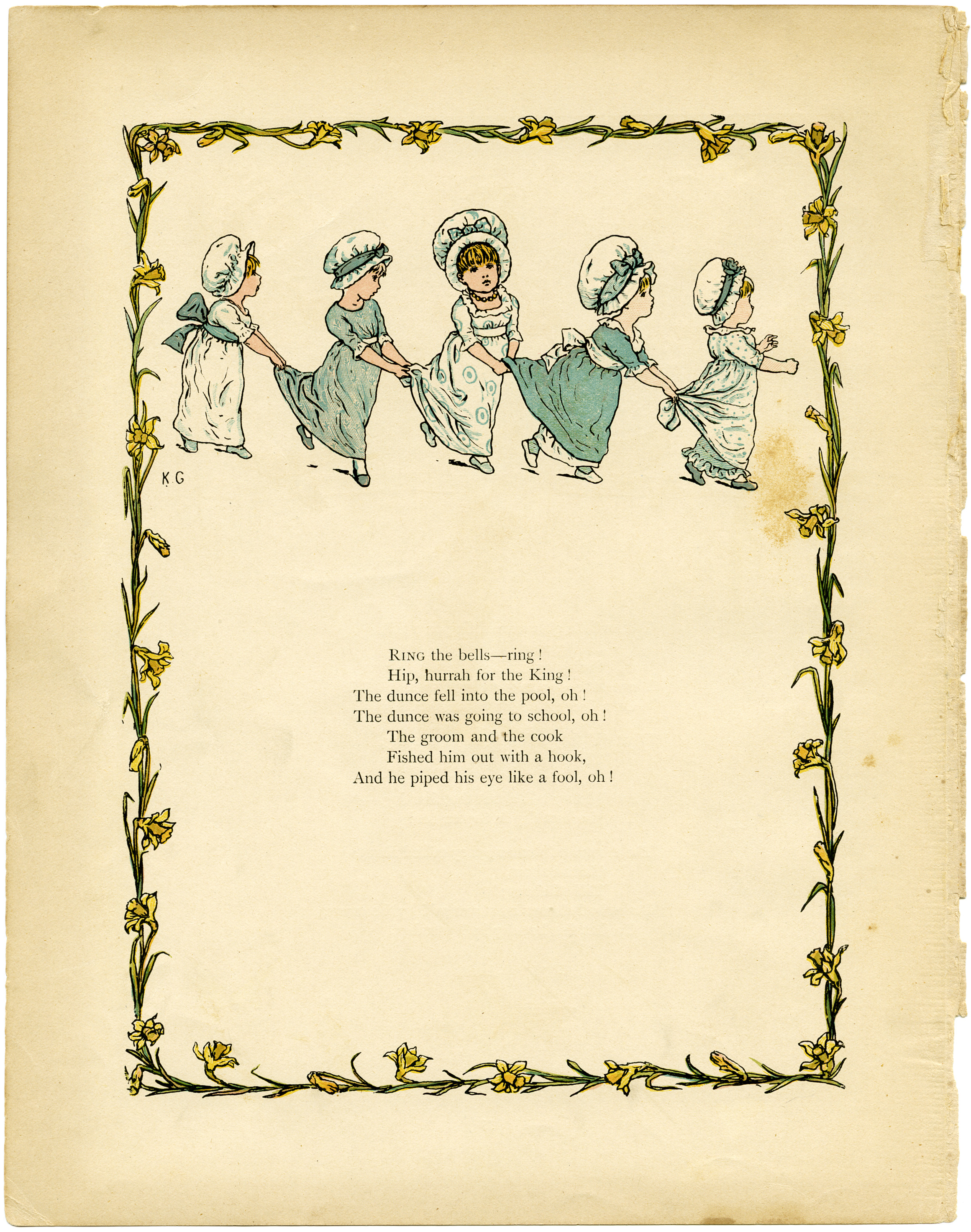 kate greenaway storybook page old design shop blog
