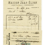 vintage french receipt, free vintage french invoice, french ephemera, vintage french cheque, french check image, vintage french graphic, epicerie en gros, maison jean elion
