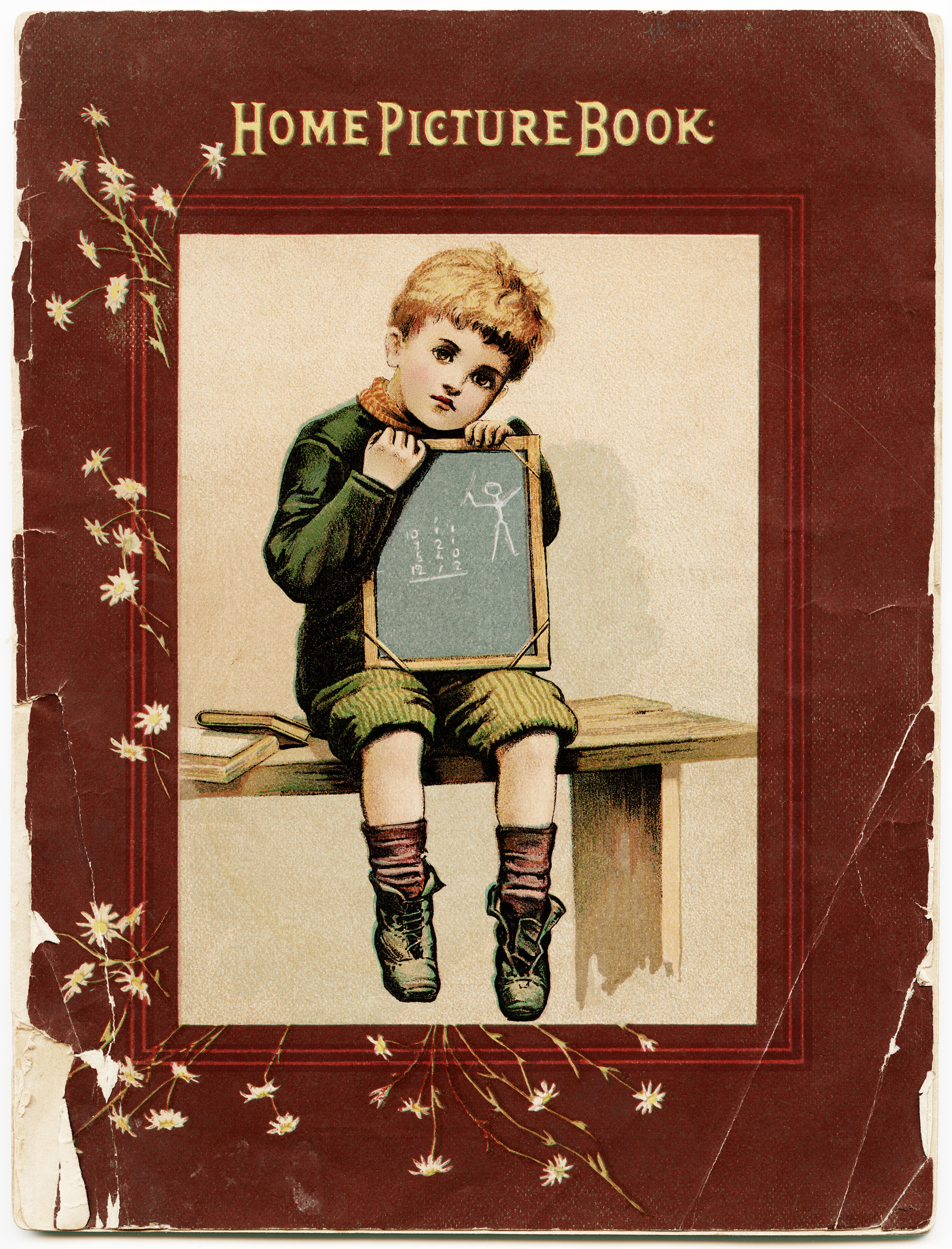 Tattered Book Cover Free Vintage Image Old Design Shop Blog