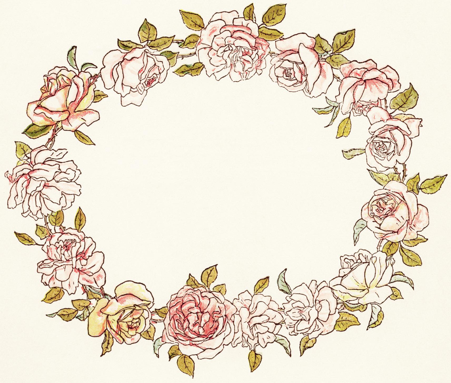 clipart flower wreath - photo #19