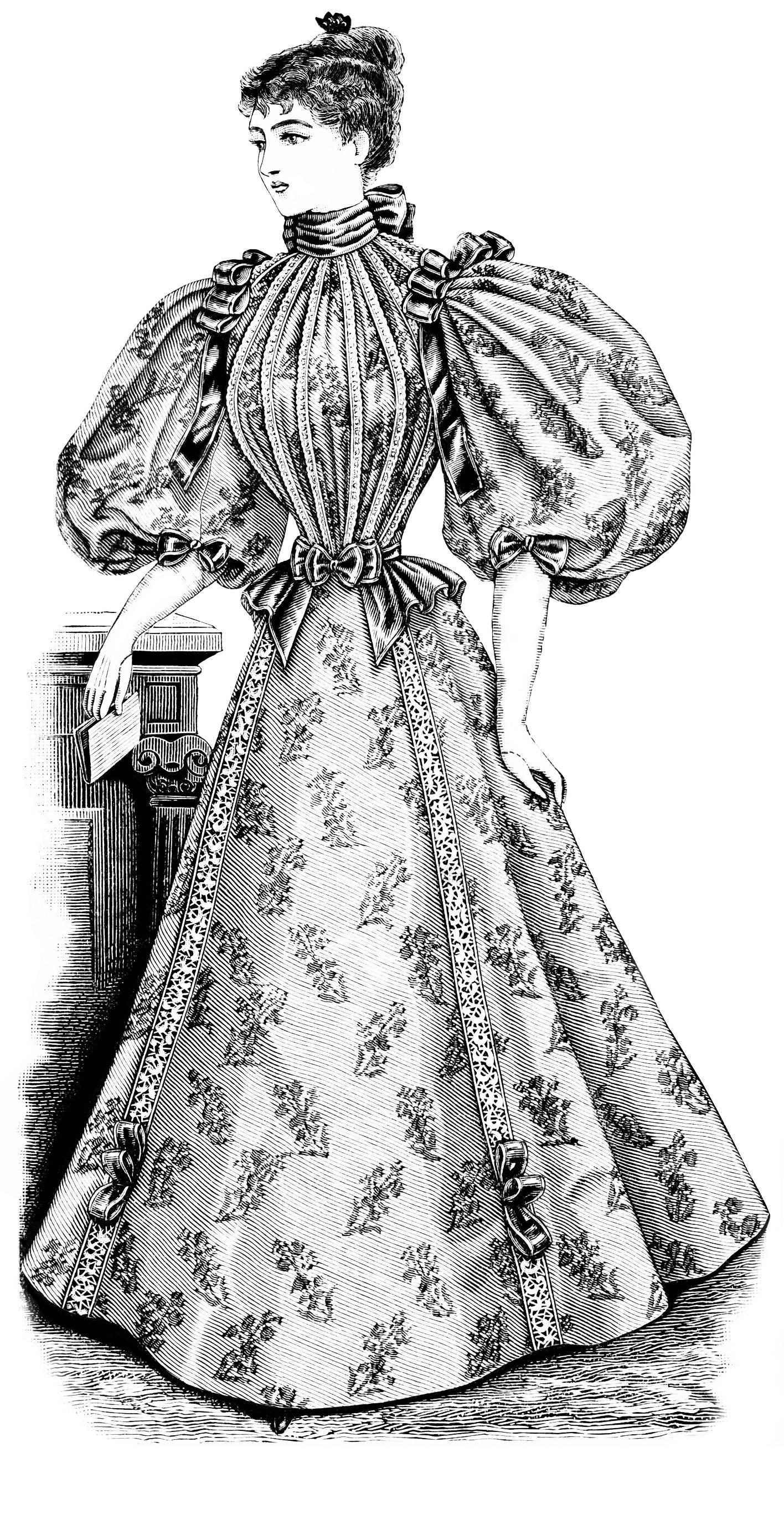 vintage dress clip art - photo #40