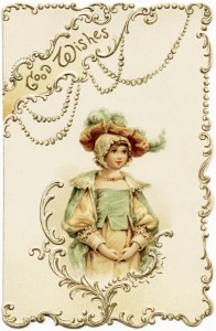 free vintage christmas image, raphael tuck christmas, antique xmas card, victorian tuck graphic, fancy victorian card