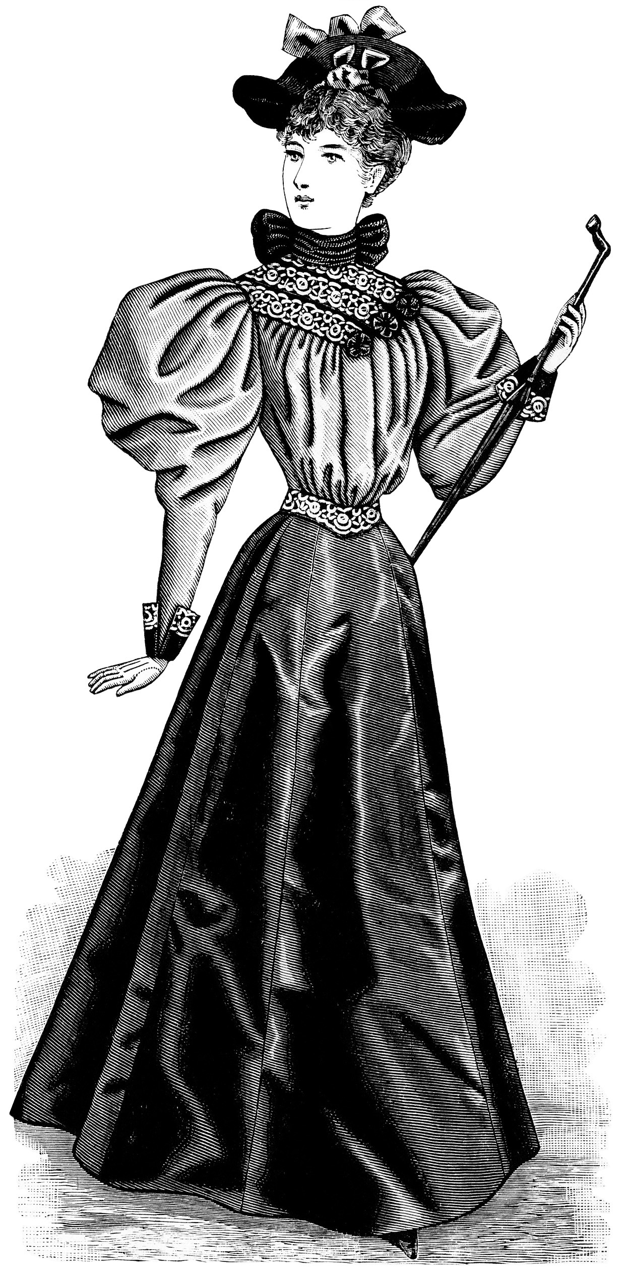 vintage lady clipart - photo #39