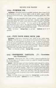 Mrs Beeton's pumpkin pie, old fashioned pastry recipe, vintage digital cookbook page, antique recipe graphic