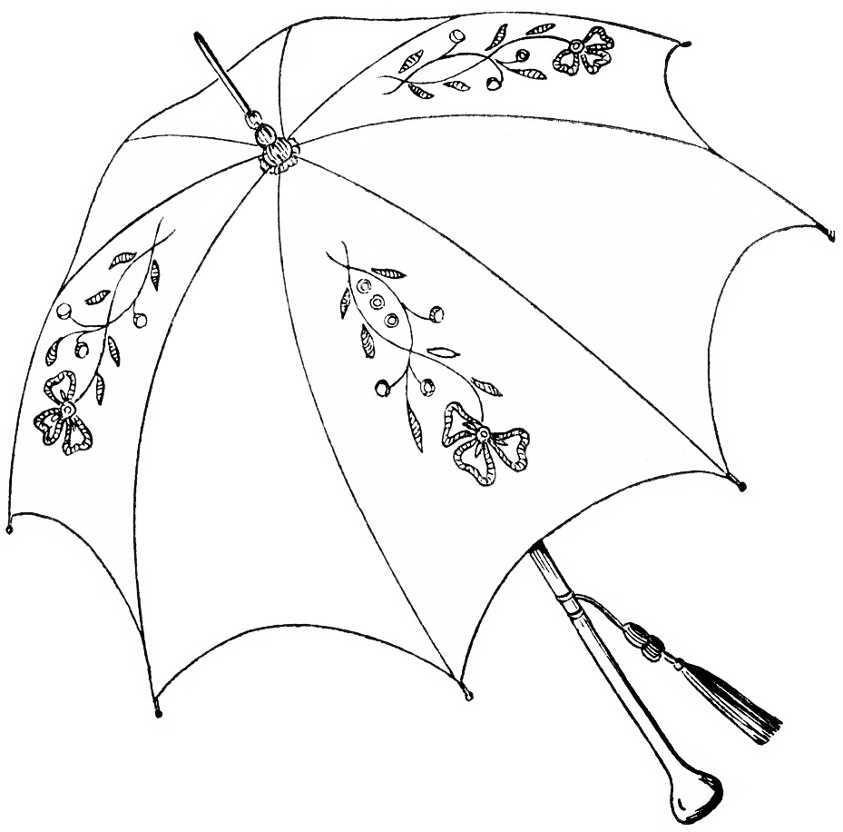 Line Drawing Umbrella : Free coloring pages of clip art umbrella