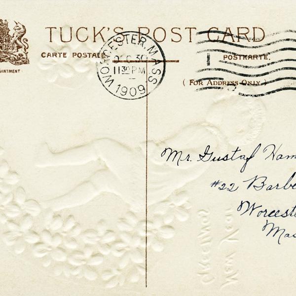 free vintage postcard, tucks postcard back, old postcard, antique postal graphic