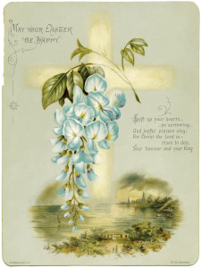 hildesheimer easter, digital greeting card, antique easter card