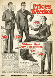 1920 mens clothing image, vintage fashion for men, antique catalogue page, chicago mail order co, mans clothing clipart