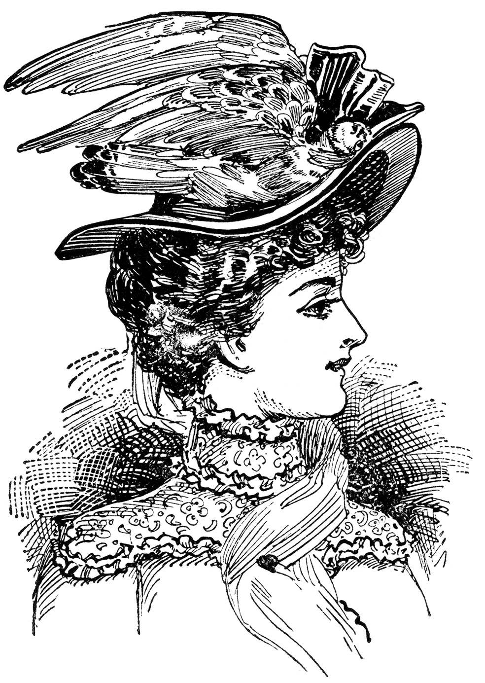 Victorian Fashion Archives - Page 5 of 9 - The Graphics Fairy  |Vintage Hat Art