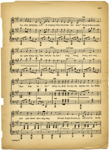 Agile image within vintage sheet music printable