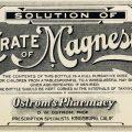 citrate of magnesia label, vintage medicine label, antique pharmacy paper, old poison label, vintage medical ephemera