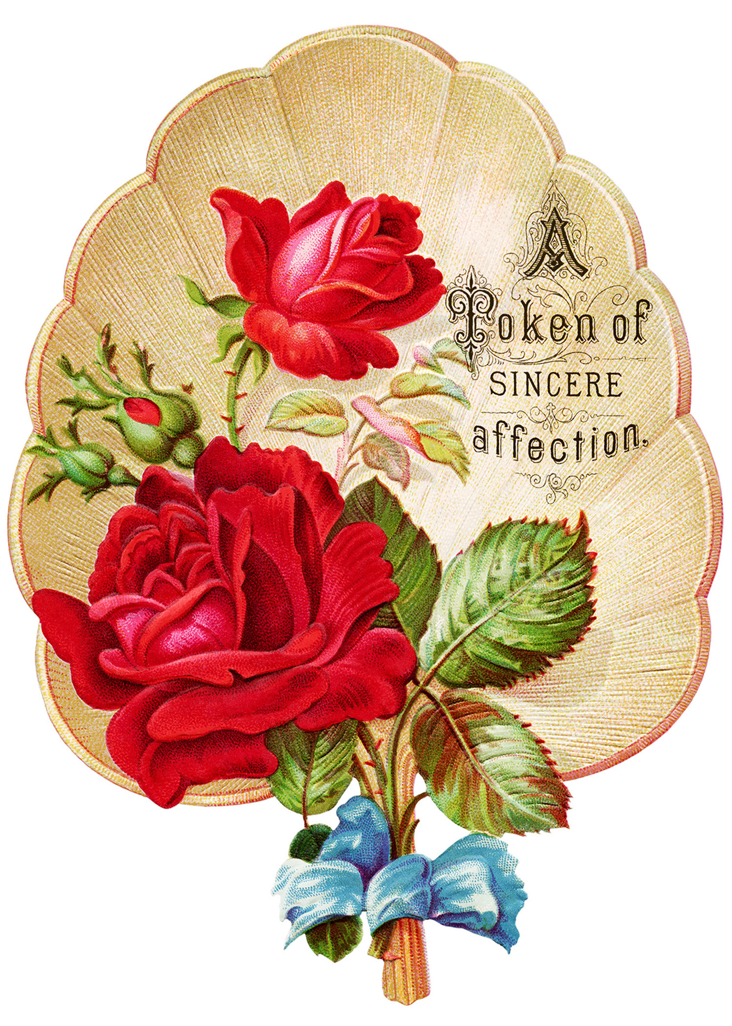 victorian rose clipart  vintage clip art fan  red rose graphics  free    Vintage Rose Clip Art