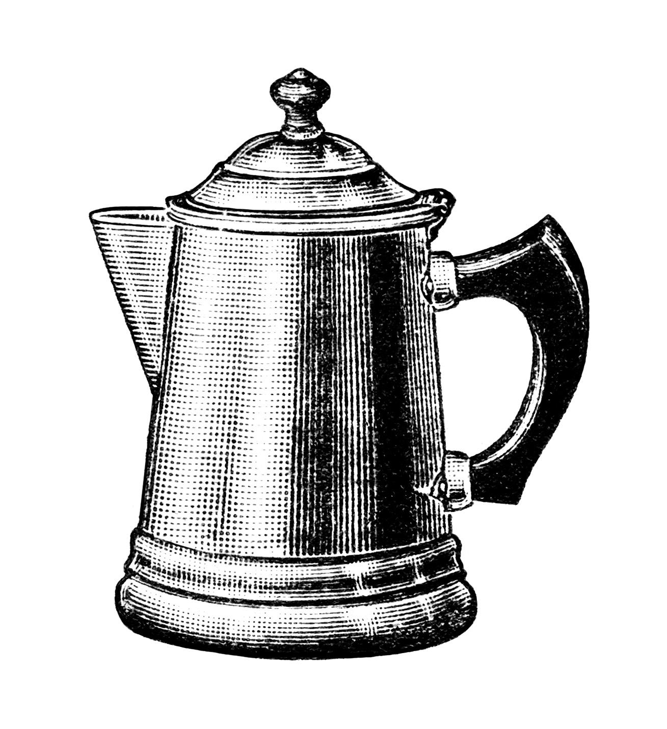 Free Vintage Image Coffee Pots Clip Art
