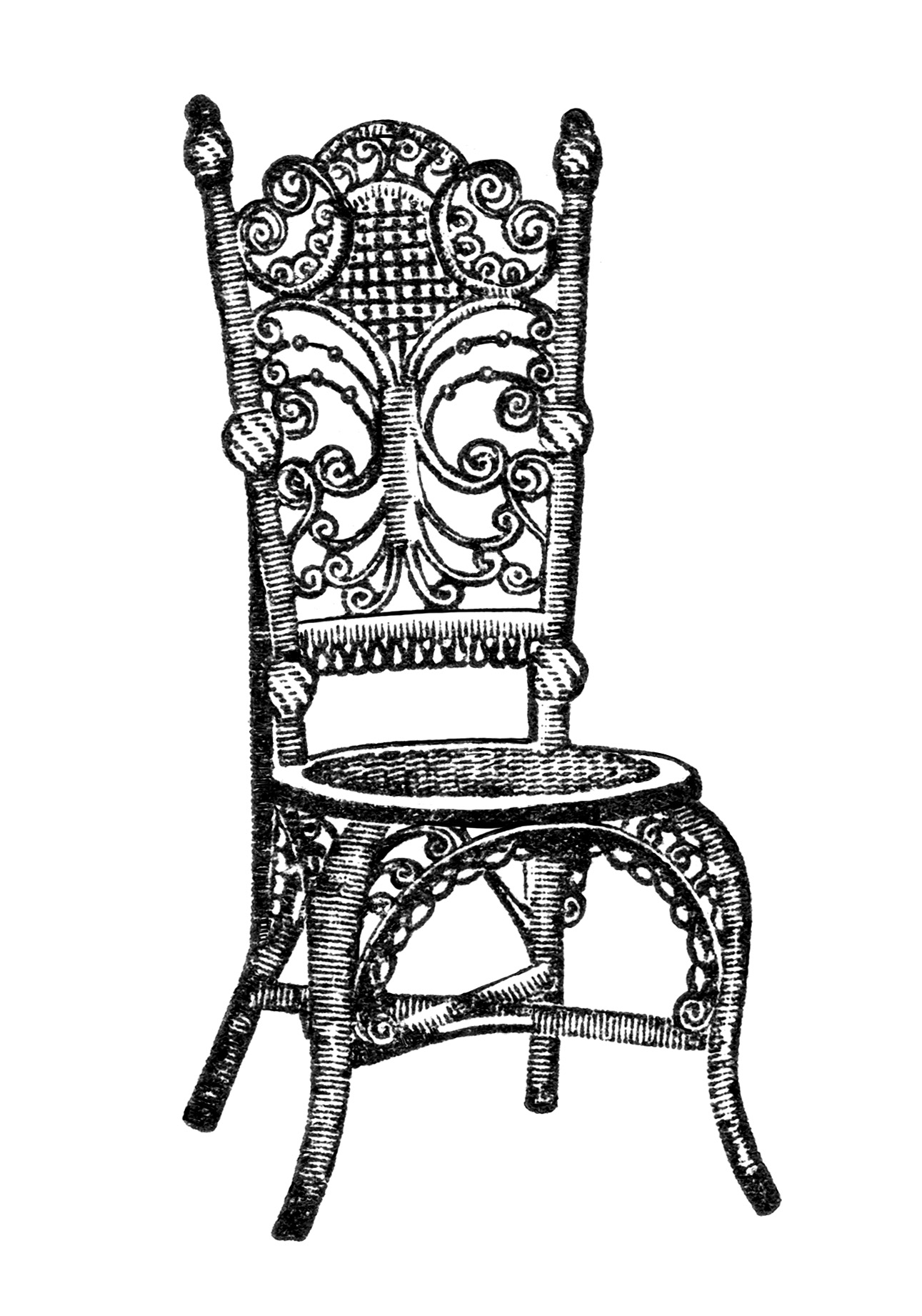 ... chair image, black and white clip art, printable furniture graphics