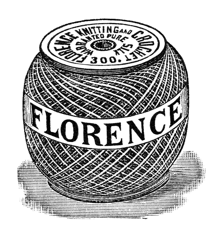 Vintage Knitting Clipart : Vintage crochet silk free digital advertisement and clip