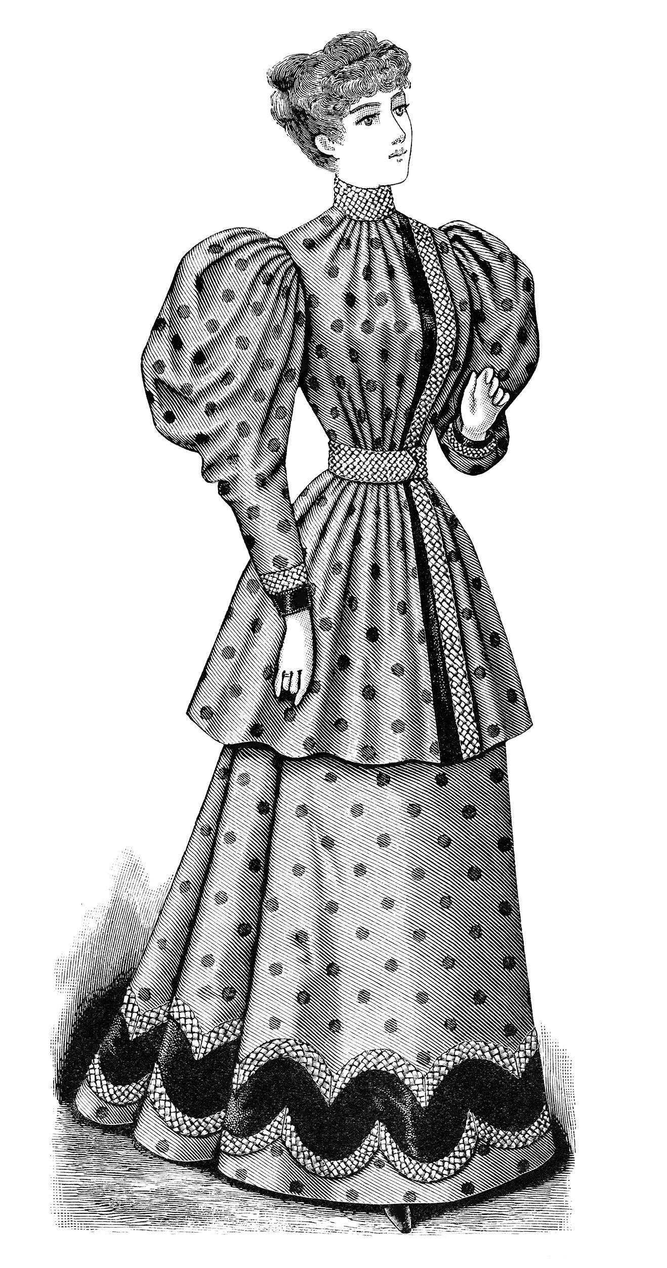 vintage lady clipart - photo #37
