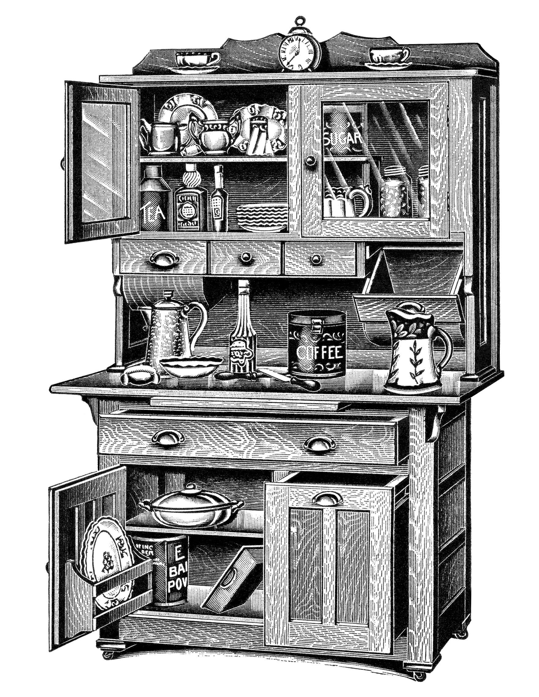 kitchen cupboard clipart - photo #26