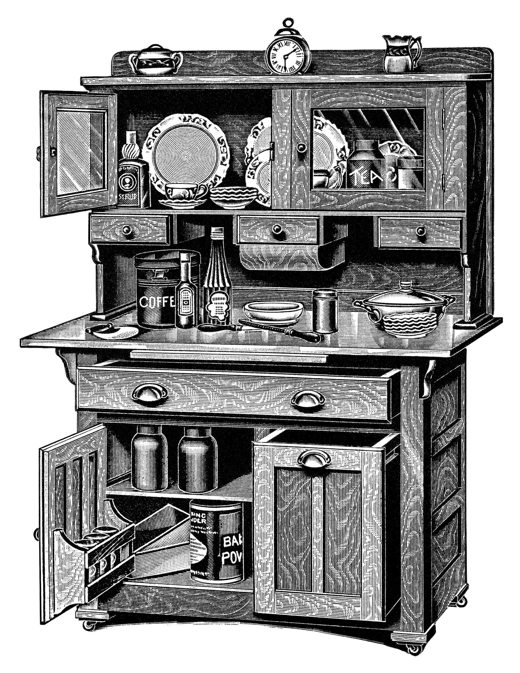 kitchen cupboard clipart - photo #37