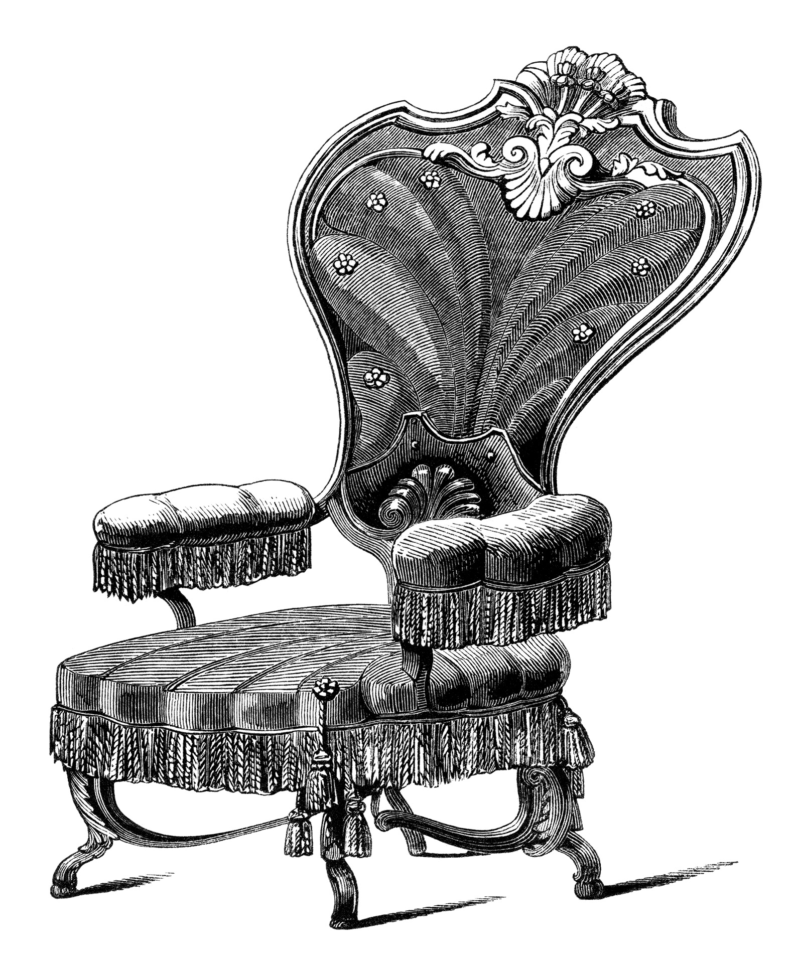 Antique chairs design -  Vintage Chair Clip Art Black And White Clipart Antique Chair Engraving Old Fashioned