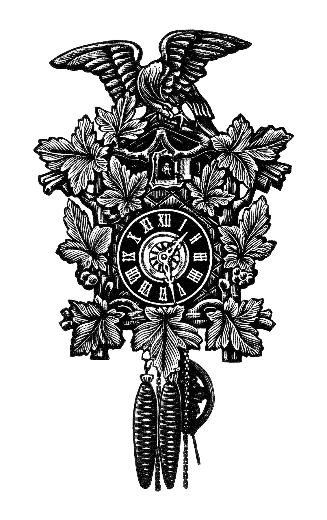 cuckoo clock clip art free - photo #4