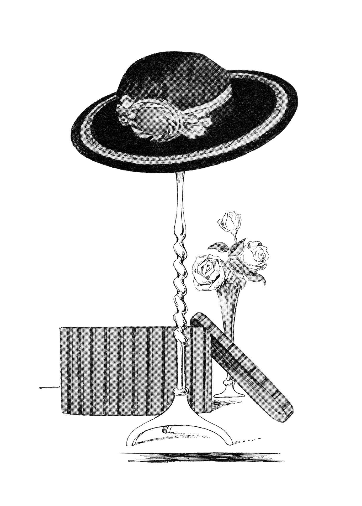 vintage hat clipart - photo #13