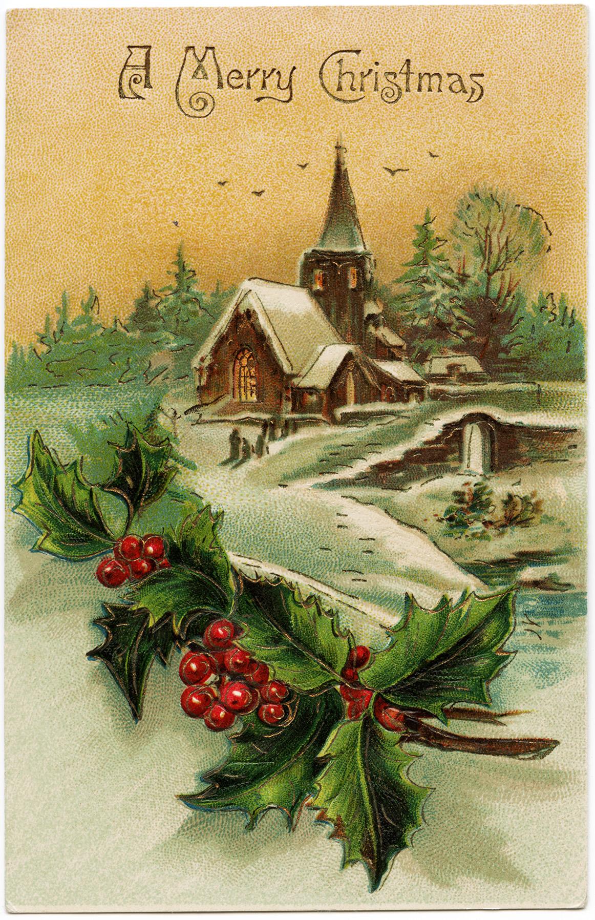 merry Christmas beautiful scene