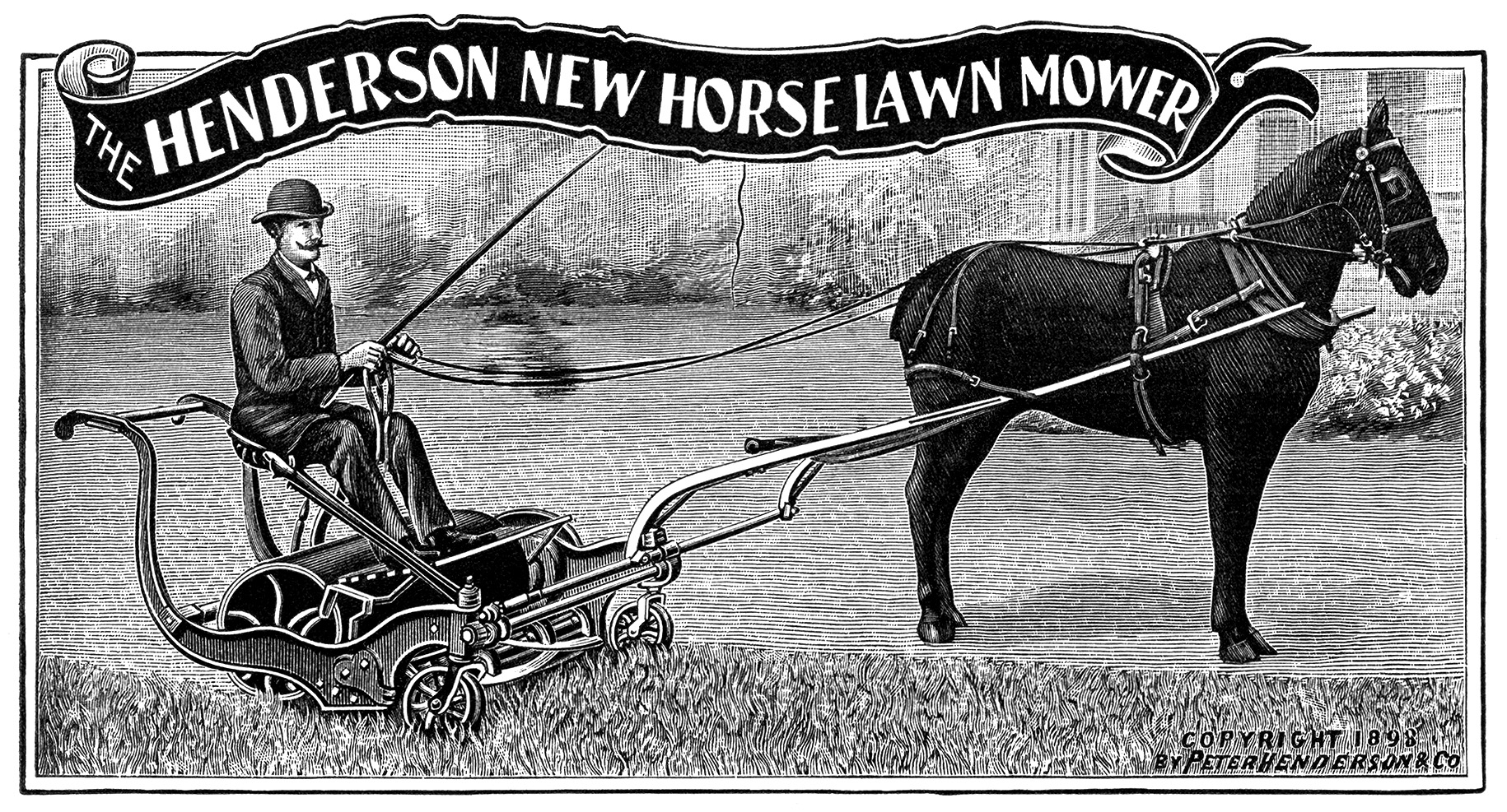 ... Mower ~ Free Antique Catalogue Ad and Clip Art | Old Design Shop Blog