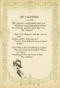 vintage poem, free poetry, harrison fisher, vintage valentine, antique valentine graphic