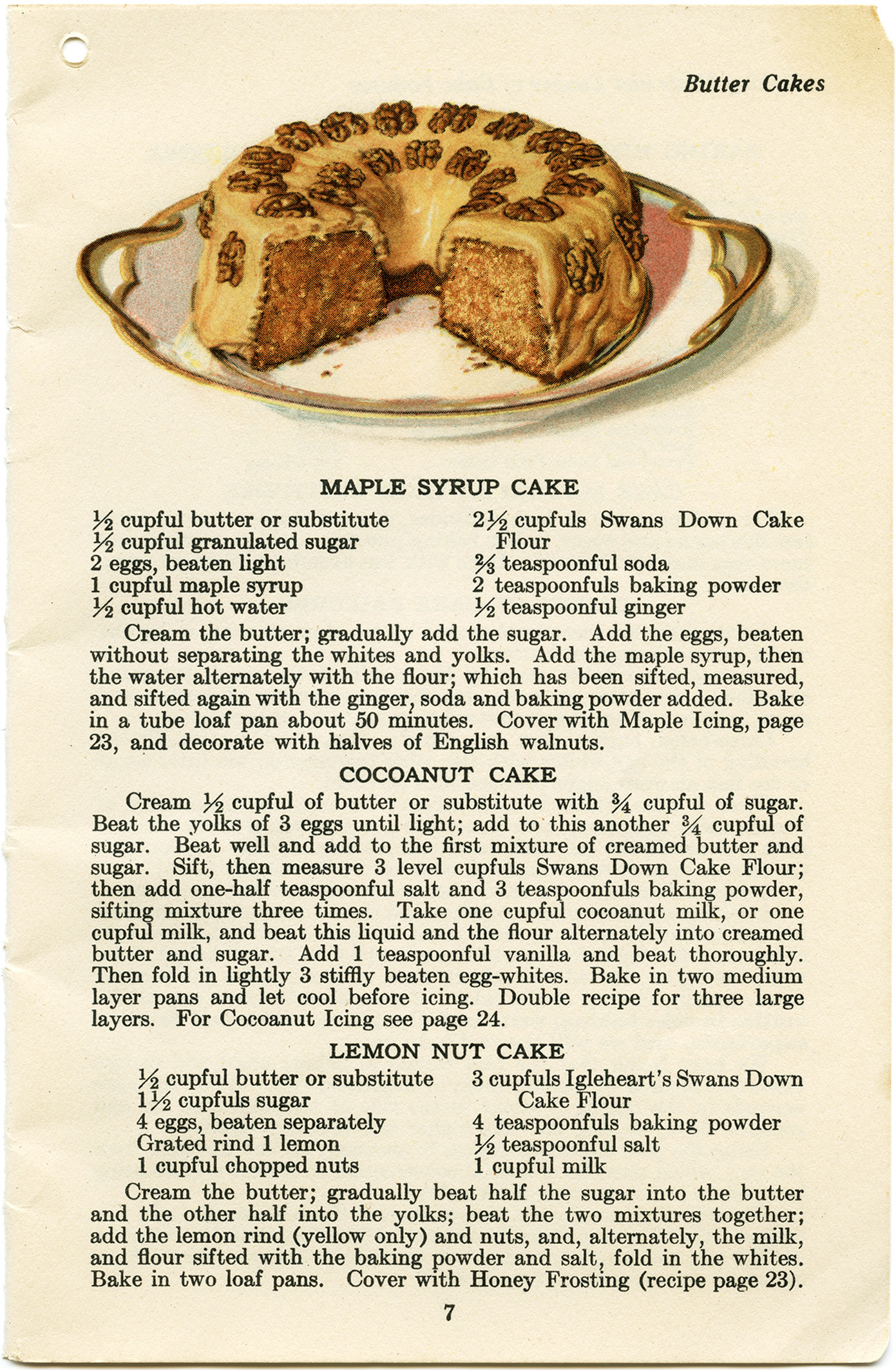 Maple Syrup Cake Free Vintage Clip Art