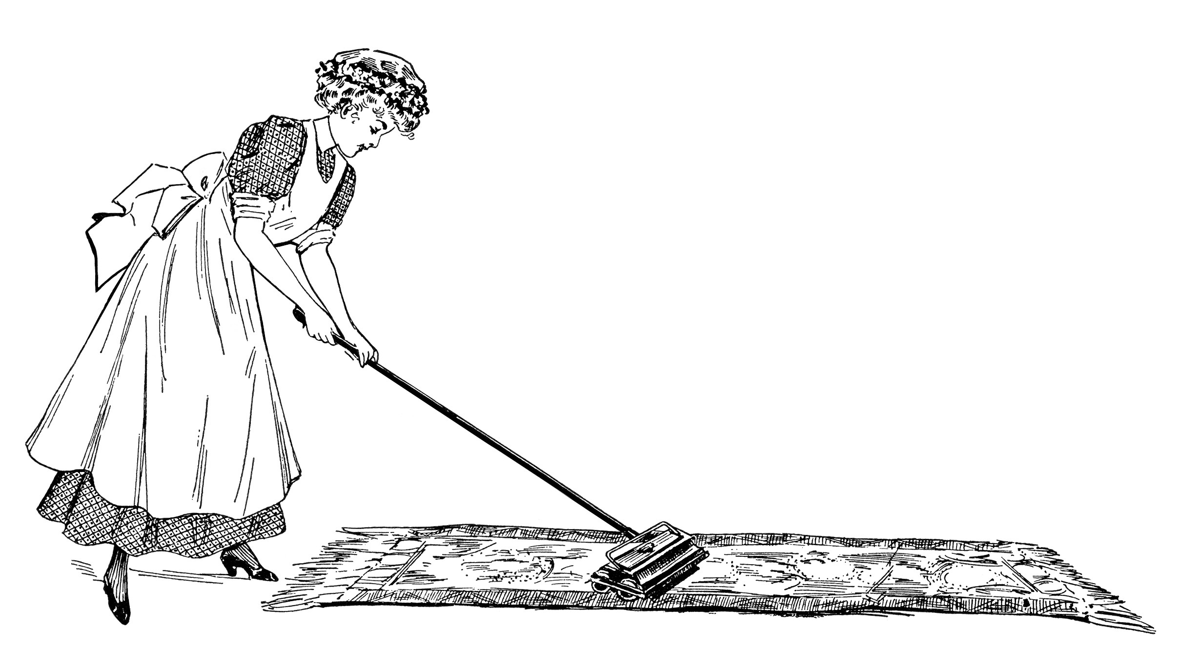 Stock Illustration of Woman vacuuming csp10359789  Search