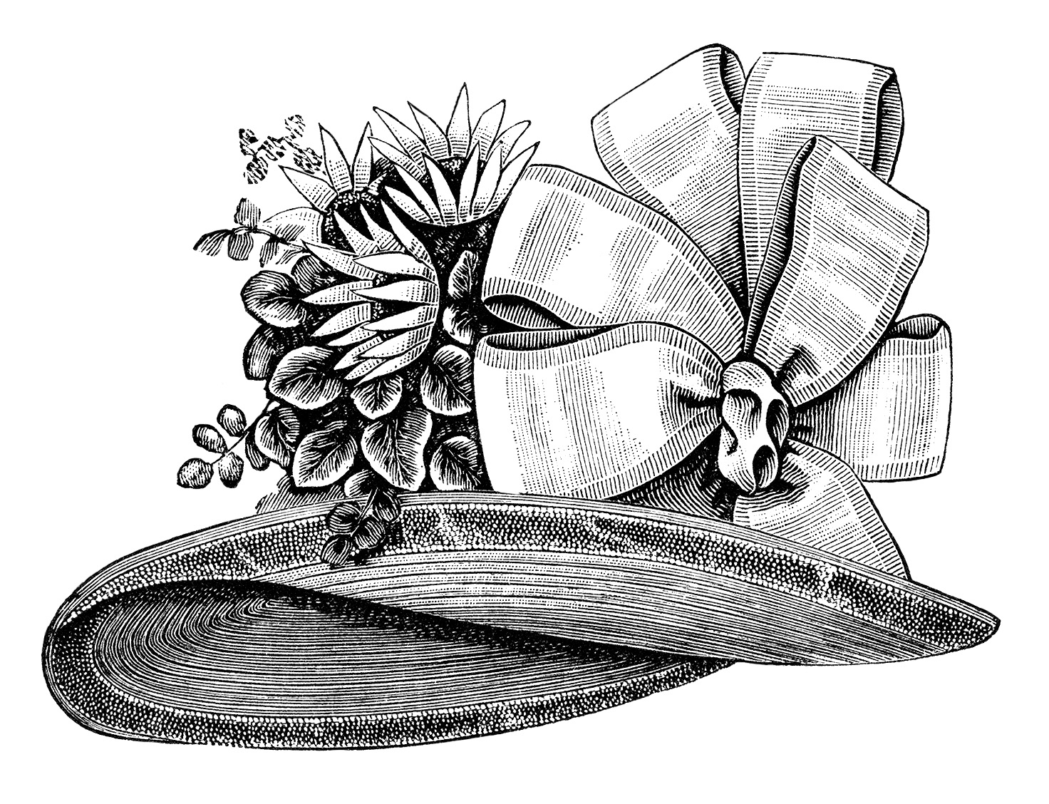 vintage hat clipart - photo #14