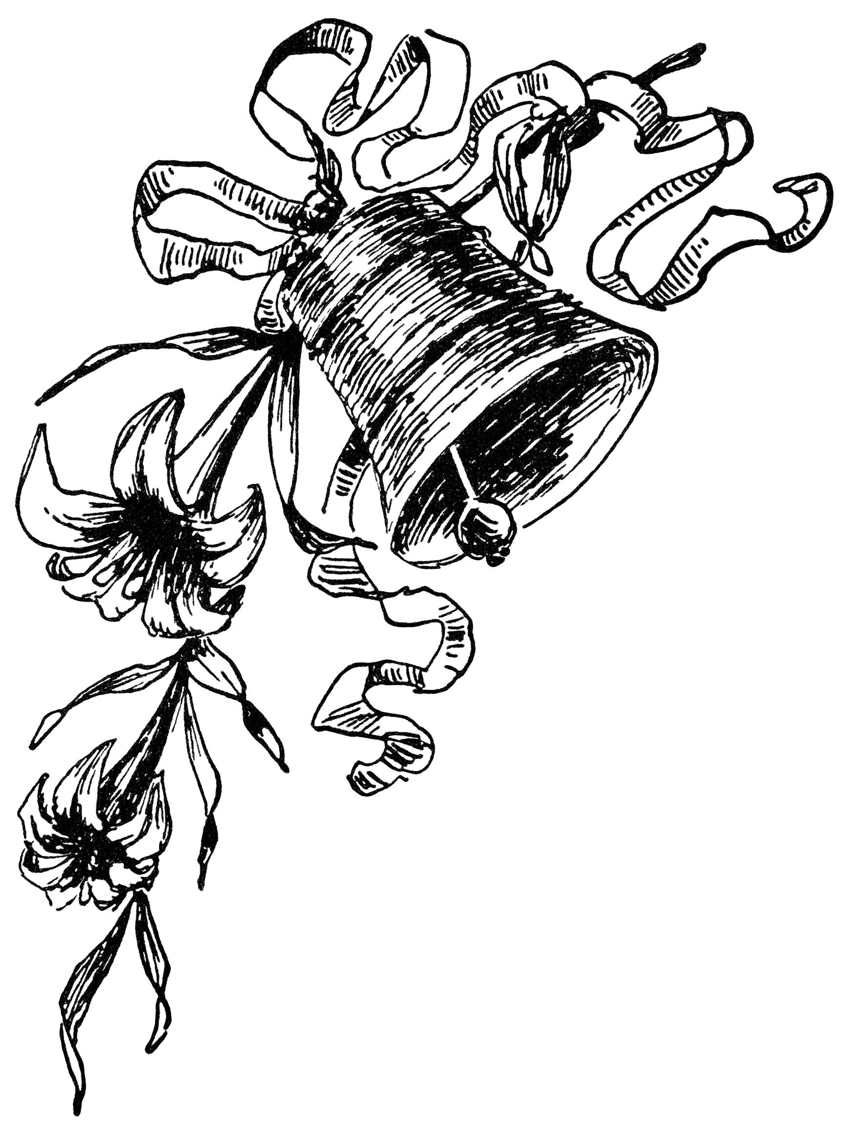 free black and white victorian clip art - photo #29