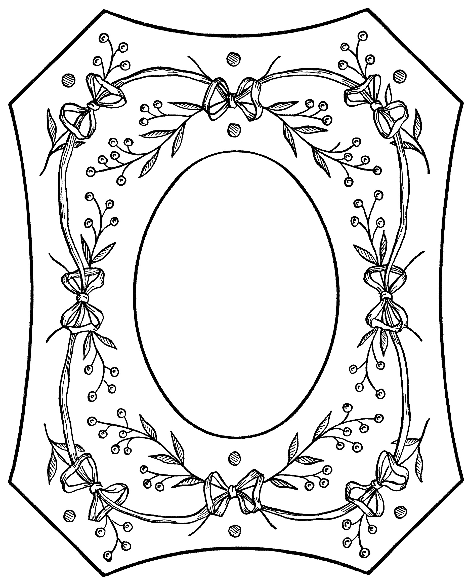Berries and bows victorian picture frame old design shop