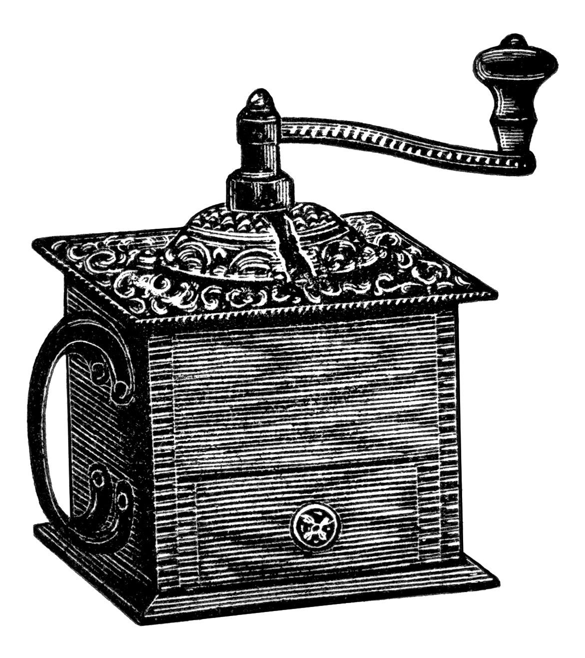 vintage coffee grinder   free clip art old design shop blog coffee grinder clipart Coffee Art