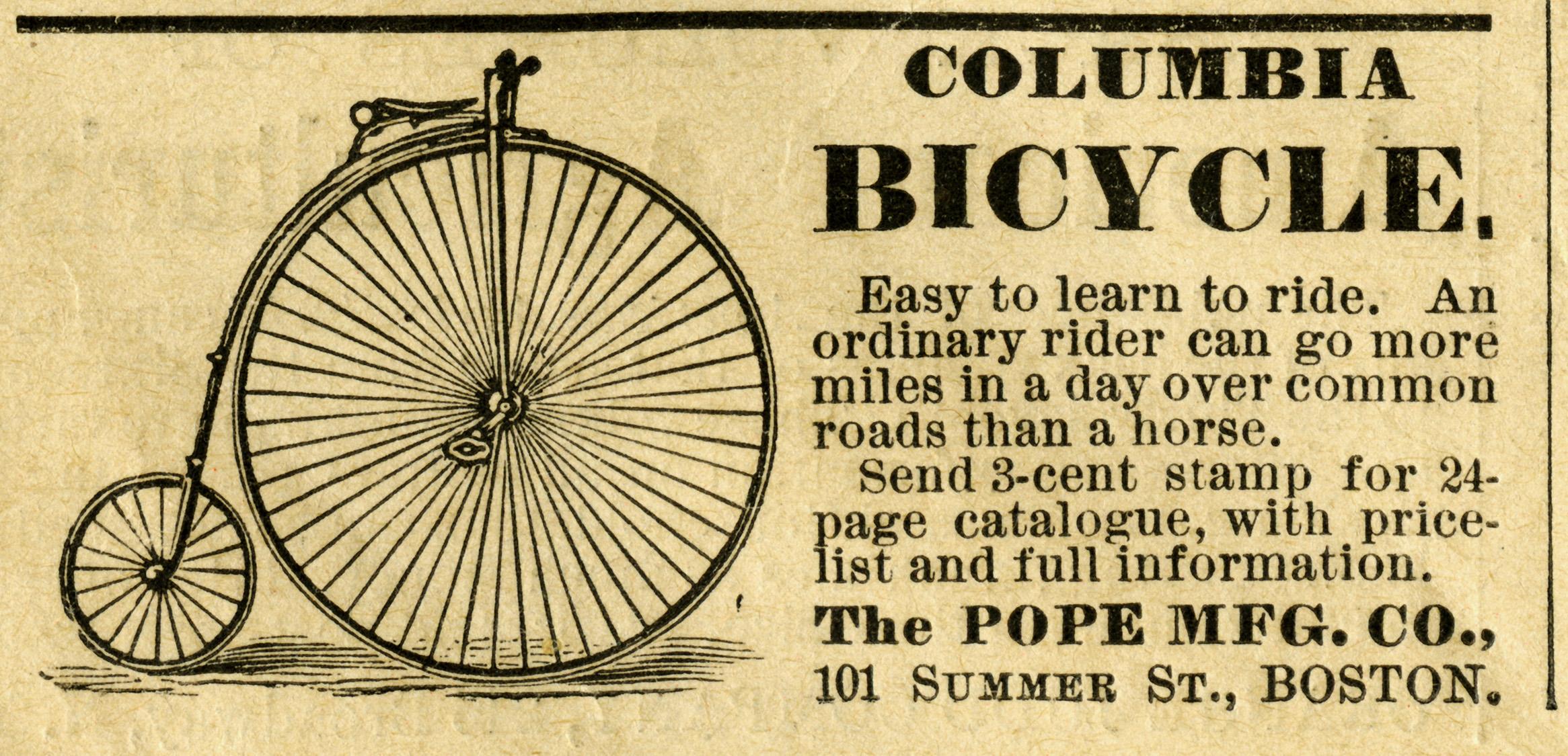 Columbia Bicycle Magazine Ad   Old Design Shop Blog