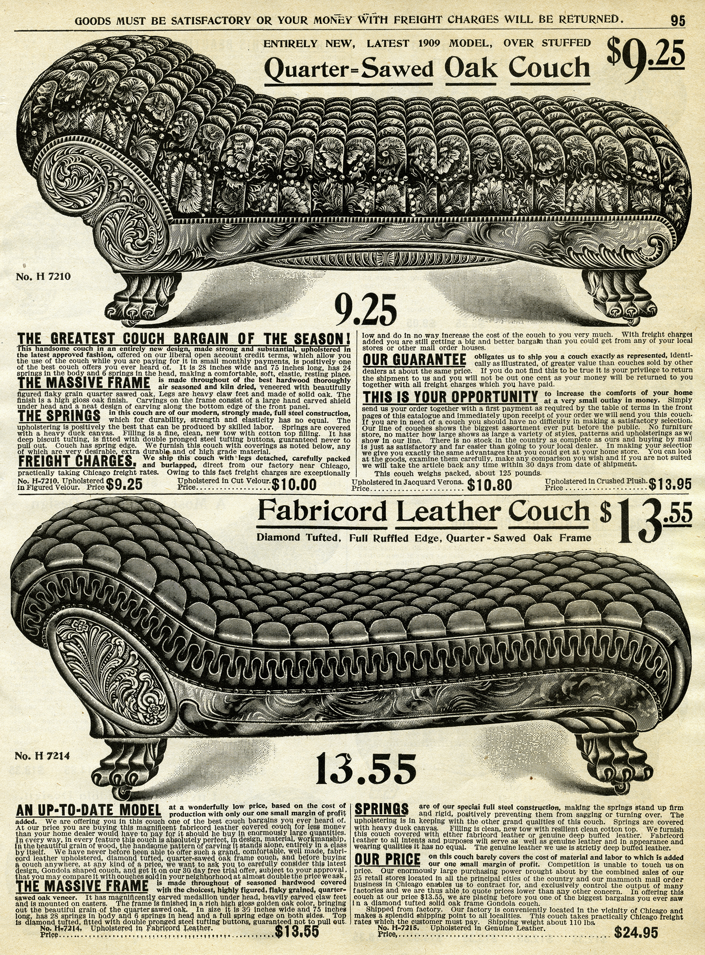 Victorian Couches Free Catalogue Page And Clip Art