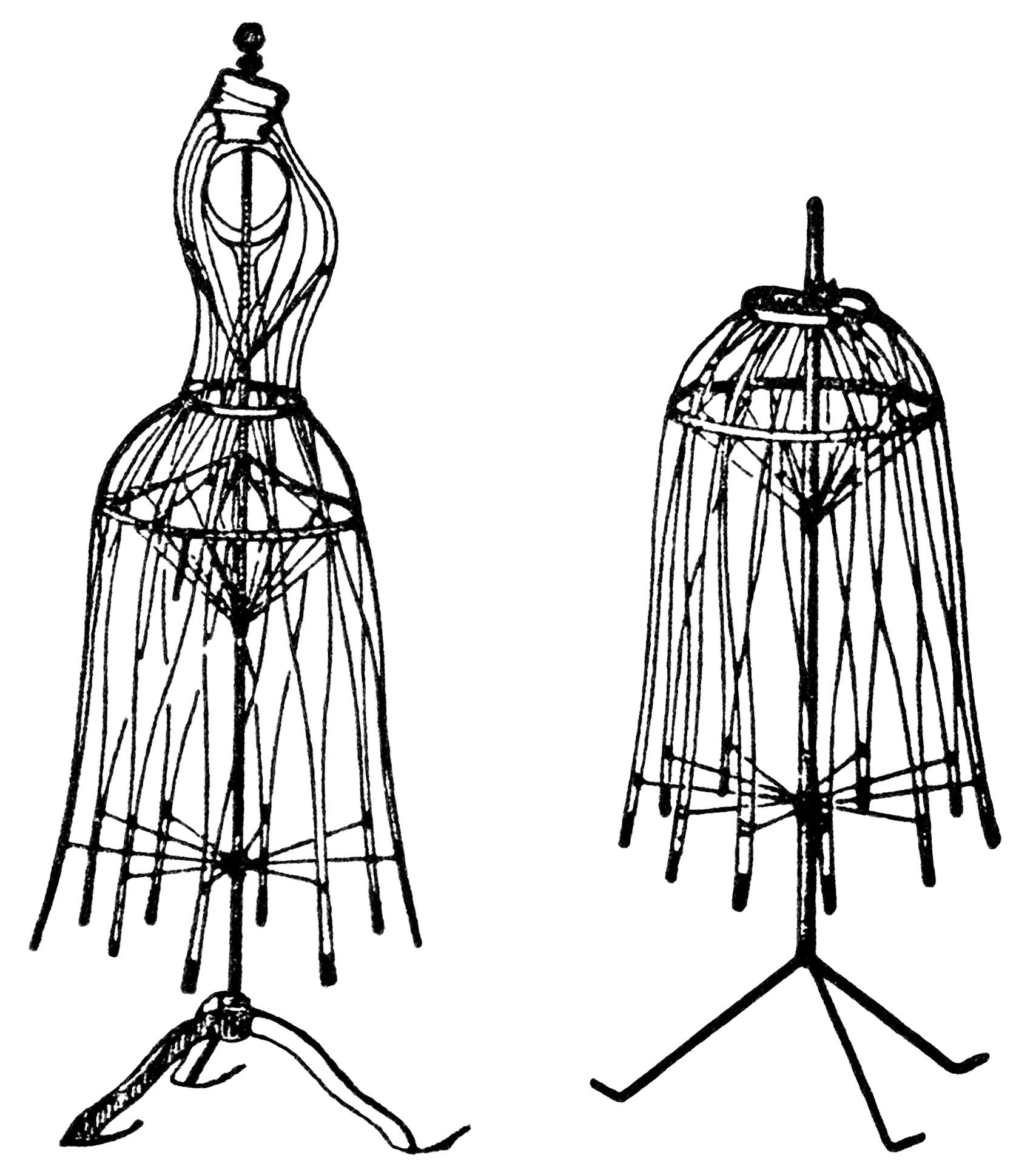 vintage dresses clipart - photo #29