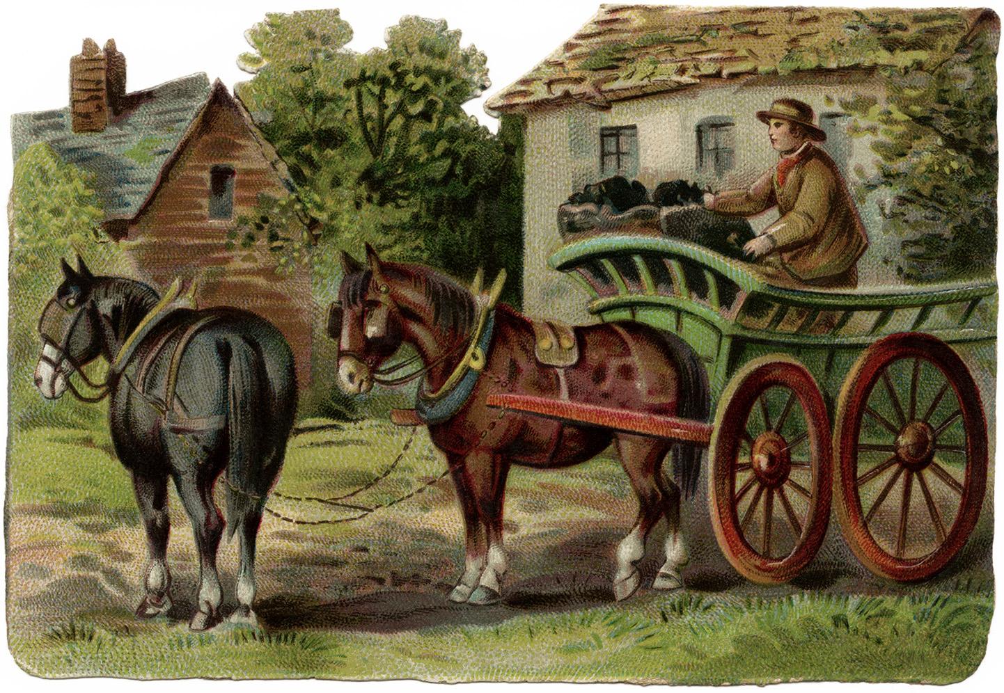 Coal Wagon  ...Sheep Shearing Clip Art