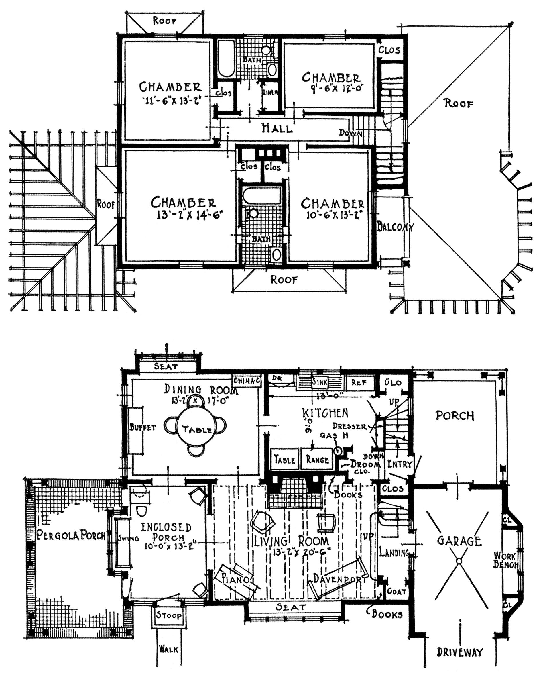 Vintage Homes With Attached Garages Old Design Shop Blog