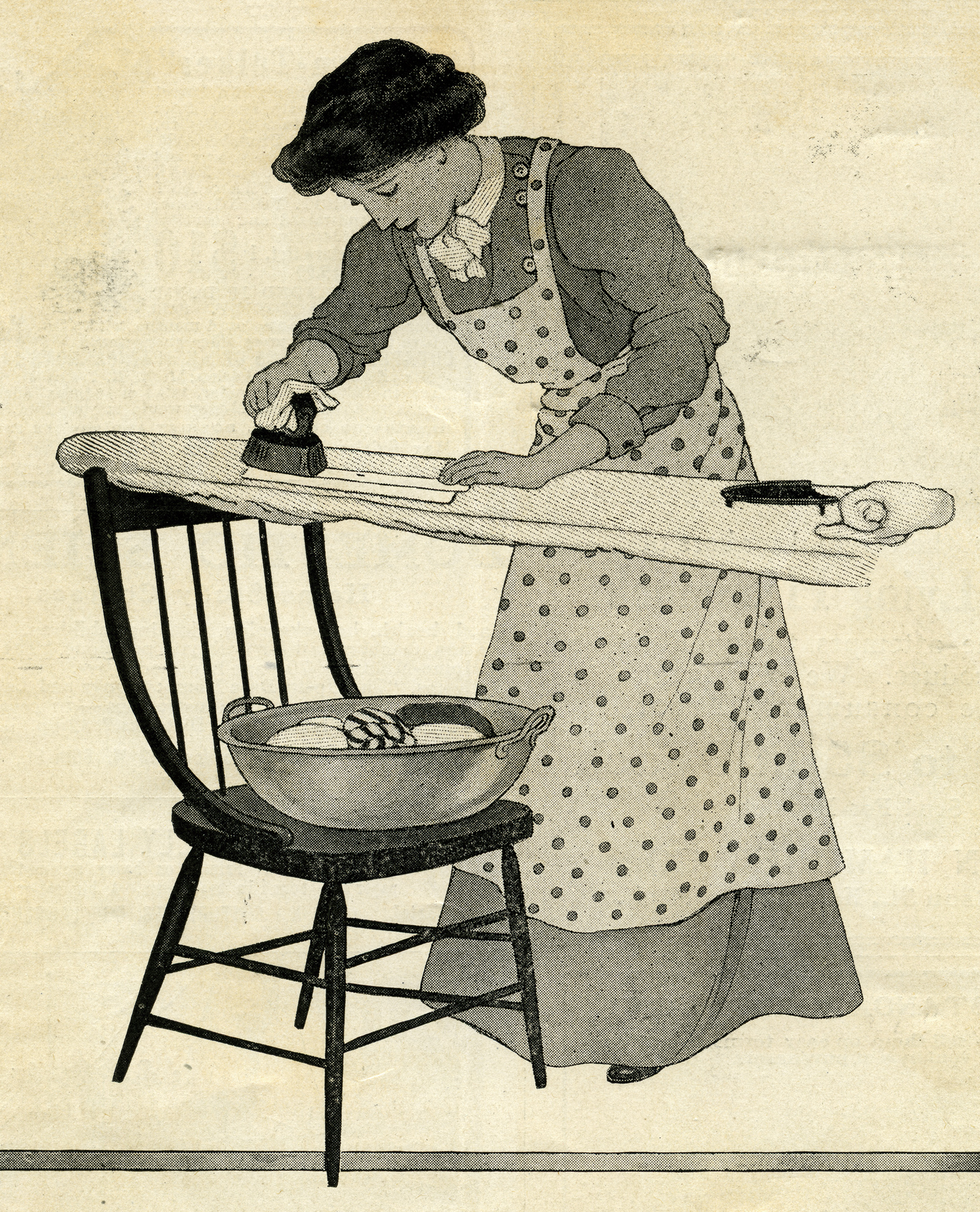Woman Ironing Clothes ~ Free Vintage Graphics | Old Design ...