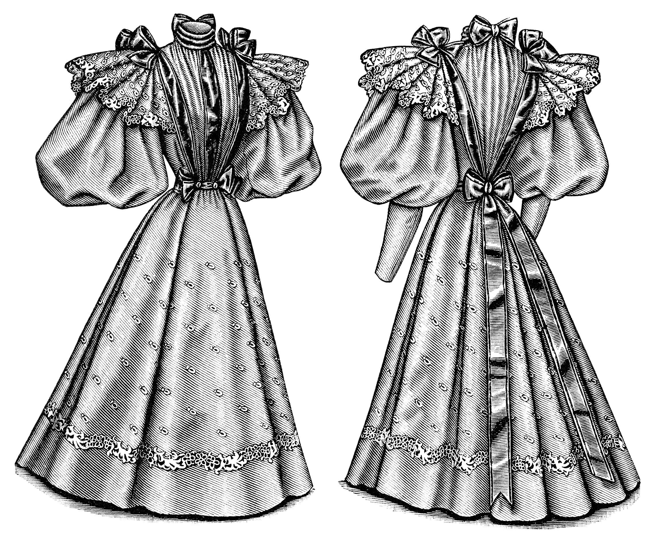 vintage dress clip art - photo #18