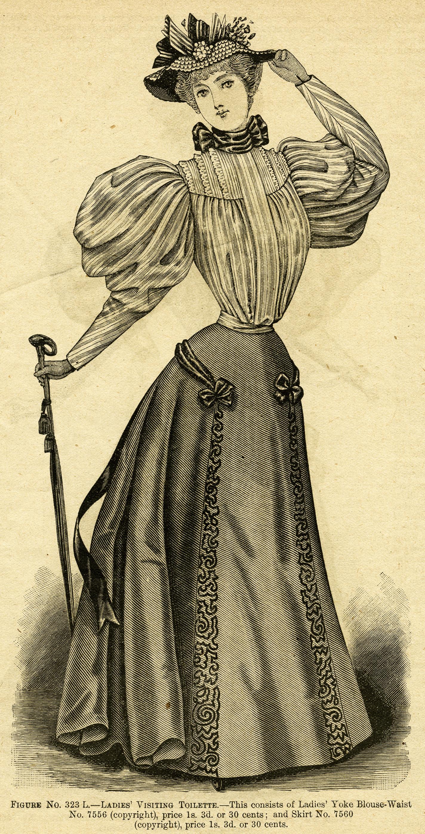 Womens Clothes Clipart Vintage dress clipart