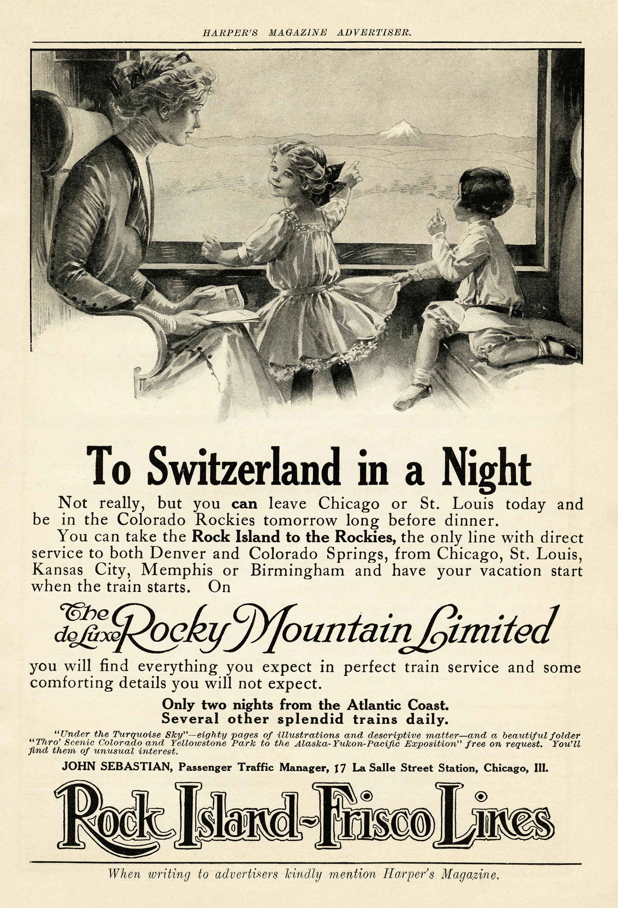 Train Travel Vintage Magazine Advertisement Old Design