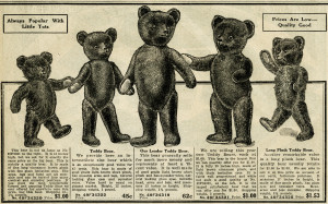 antique teddy bear, vintage teddybear clipart, black and white clip art, old fashioned toy, teddy bear illustration